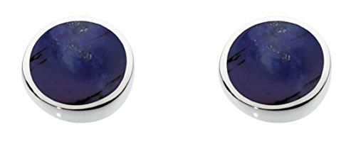 Dew Damen Ohrringe 925 Silber Lapis Lazuli Blau Rundschliff - Dew Damen-Ohrringe 925 Silber Lapis Lazuli Blau Rundschliff